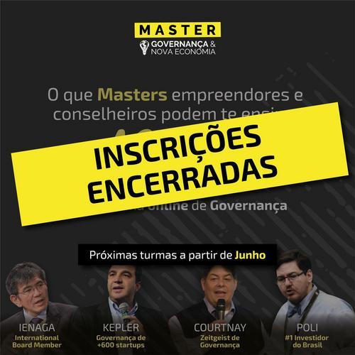 Primeiro programa brasileiro online de Governança